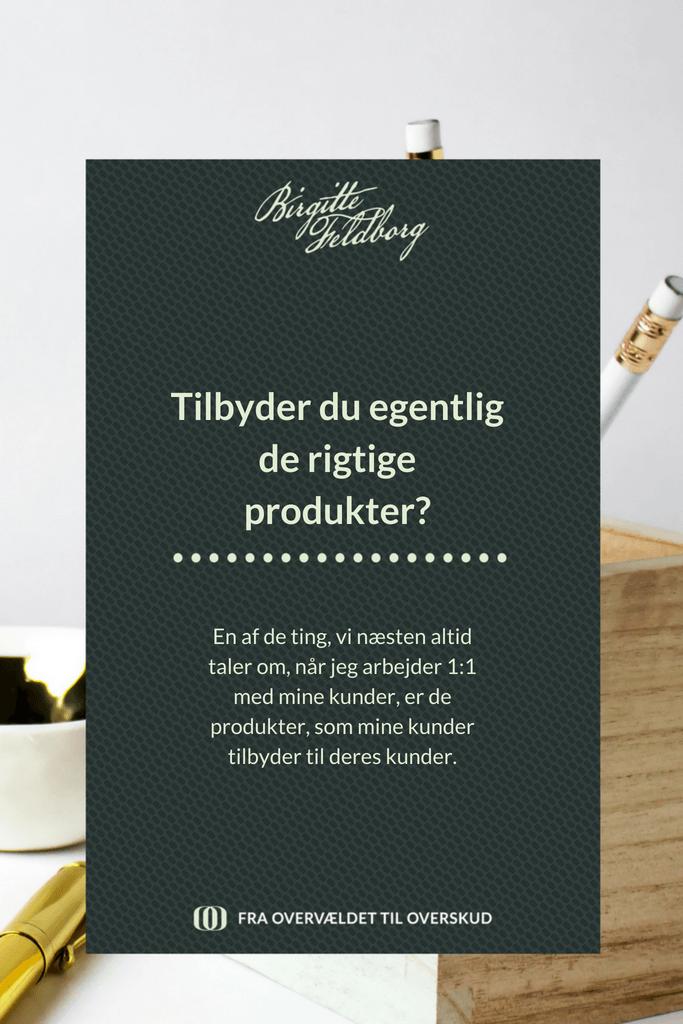 Tilbyder du egentlig de rigtige produkter?